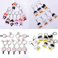 NEW Kpop Star BTS Character Acrylic Key Ring Bangtan Boys Fans Keyfob Keychain