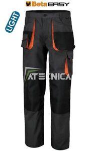 Pantalones de Trabajo Largo Luz Multibolsillos beta work 7860E Gris