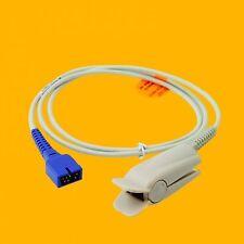 Adult Finger Clip Spo2 Sensor Compati Nellcor DS-100A 7 pin EKG Patient Monitor