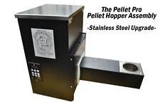 "Pellet Pro® 12"" Stainless Steel Pellet Gril Hopper Assembly True PID Controller"