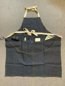 Unisex Pockets Denim Full Apron Chef Barista Florist Workwear Painter AP-002