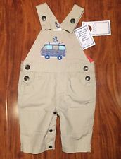Pumpkin Patch Boys Tan Overall Dungaree Paradise Behold Size 0-3 Months NWT