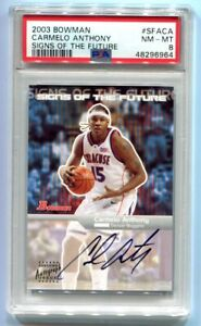 2003 Bowman Carmelo Anthony Signs of the Future RC PSA 8 NM-MT
