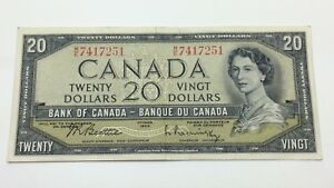 1954 Circulated 20 Twenty Dollar Out Register printing ME Prefix Banknote C845