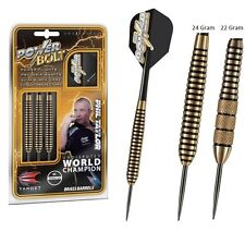 NEW Target Phil Taylor BRASS POWER BOLT Dart Board DARTS Pro Grip Shafts 22gram