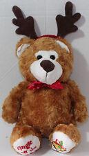 Dan Dee Jingle All The Way Christmas Bear Antlers Stuffed Plush Animal Toy Cute