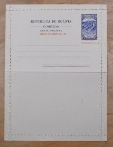 Mayfairstamps Bolivia 1.50 Bs Mint Stationery Letter card wwp72223