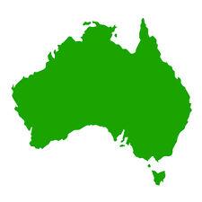 Australia forma Auto Finestrino Paraurti Muro in Vinile Decalcomania Adesivo souvenir Verde Erba