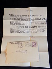 WW1 Letter from Brother to Brother Ft Dix NJ 3/3/18 ANTIQUE CORRESPONDENCE