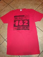 """Mens Red Blink 182 """"Crappy Punk Rock"""" San Diego, California Shirt Size M"""