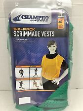 CHAMPRO Scrimmage Vest Green 6/PK basketball, soccer, football, lacrosse