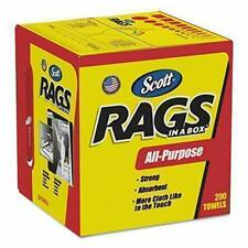 "Kimberly-Clark Rags in a Box 10"" x 12"" 200/Box, White"