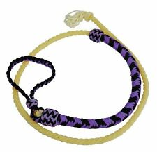 Showman 4.5ft Braided Nylon Over & Under Whip with Lasso End - PURPLE & BLACK