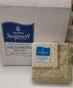 500 x Swantex Seasons Greetings Swansoft Christmas Napkins 40cm sq NEW