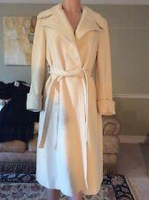 Vintage 1970s 100% Cashmere Wrap Coat Cream