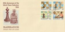 1984 Barbados FDC cover 60th Anniversary of The World Chess Federation
