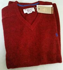 Original Penguin Mens 100% Lambswool Jumper / Sweater Maroon/Red - Size M - BNWT