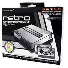 NEW Retro Bit Nintendo NES Entertainment System Silver/Black Game Console Games