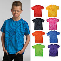 Colortone Kids Tonal Spider Tee TD01B- Short Sleeve Top Crew Neck Cotton T-Shirt