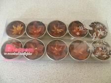 10 Blossom Handmade Tropical Burgundy Flower Scented Tealights Candles Fairtrade