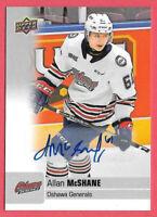 2019-20 Allan McShane Upper Deck CHL Rookie Auto - Montreal Canadiens