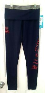 ARIZONA WILDCATS Women Juniors Leggings Size Small 3/5 Blue Tights Yoga Pants
