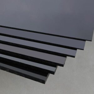 Black ABS Plastic Sheet Panel DIY Model Craft 1/1.5/2/3/4/5mm Thick Various Size