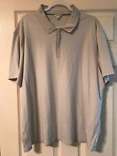 Calvin Klein (2XL) (off-white) Mid Zipper Front Polo Shirt