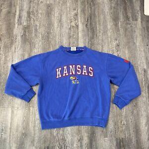 Kansas KU Jayhawks Colosseum Athletics Pullover Sweatshirt XL Blue Distressed