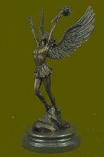 BRONZE NUDE WINGED MALE STATUE NIKE VICTORY ANGEL SCULPTURE HOT CAST FIGURINE