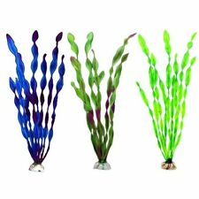 Artificial Aquarium Plant Grass Fish Tank Decoration Tree Bush Silk Green Blue
