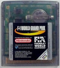 jeu F1 WORLD GRAND PRIX sur nintendo game boy color gbc formule un spiel voiture