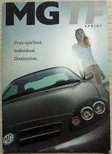 MG TF 135 SPRINT & TF 160 SPRINT Car Sales Brochure 2002-03 #5936