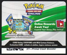 4x XY Primal Clash - Unused Booster Pack TCGO Code Card Pokemon Near Mint Pokemo
