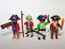 PLAYMOBIL PIRATE - flibustier - corsaire - 4 personnages pour bateau pirate