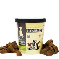 NEW Treatibles DOGS 60 Count SOFT CHEWS Beef Cookies USA Grain Free Hemp Oil