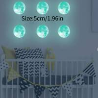 5cm Luminous Moon Earth Wall Stickers for Kids Room Bedroom DIY 3D Home Decor