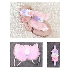 Baby Pink Angel Wings Feather Kids Newborn Infant Fairy Party Costume Photos Hot
