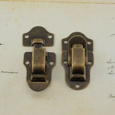 Toggle Catch Latch Case Chest Box In Antique Brass Color (set of 2)