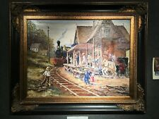 Train Depot By Robert Lebron Oil Painting