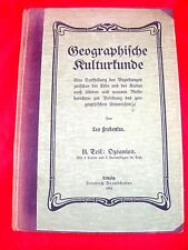 Antik - Geographische Kulturkunde - Frobenius - Ozeanien Australien - 1904