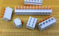10A 250V 5.08mm Pitch PCB Terminal Blocks Screwless Spring Clamp Action 2-12 Way