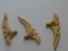 Lego 3 armes dorees set 70741 9442 9441 9553 / 3 pearl gold weapon blade NEW
