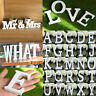 26 Wooden Freestanding Letters A-Z Alphabet Wedding Party Home Shop DIY Decor