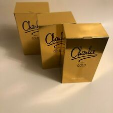 Charlie Gold By Revlon 3.4 OZ  EDT Perfume For Women New In Box (3 items).