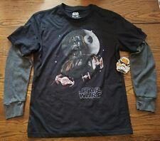 NWT Official Star Wars Long Sleeve Medium T-Shirt Darth Vader Movie Merch Disney