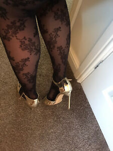 Womens Gold Stunning Sandals Uk 6