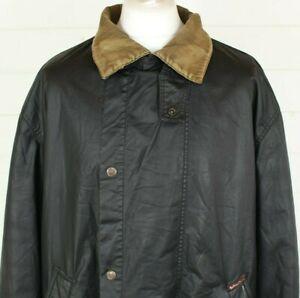 Vintage Marlboro Classics Riding Coat XL Black Wax Rare WORN Outdoor Country