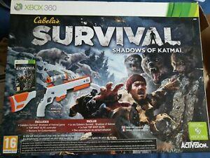 Cabela's Survival Shadow Of Katmai — XBOX 360 — Rifle Gun Controller & Game