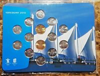 Canada 2010 Vancouver Olympic 14 Coin PL Set New!!